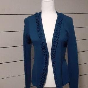 Carole Little Teal blue cardigan